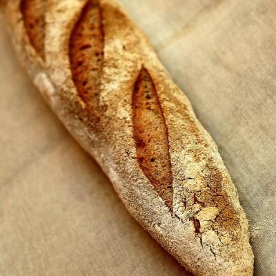 Barley, rye and spelt sourdough bread