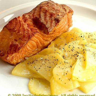 Tea-smoked salmon