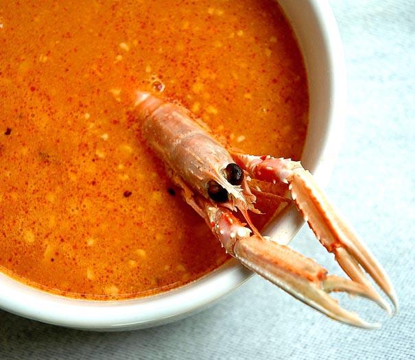 Sopa de pescado con picada - Sopa de marisco y pescado ...