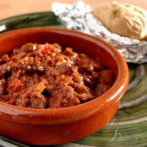 Chile con carne y chocolate