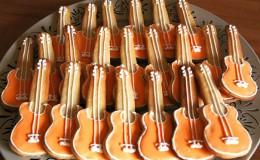 Galletas glaseadas guitarra