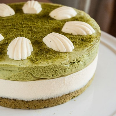 Tarta de té verde y mascarpone