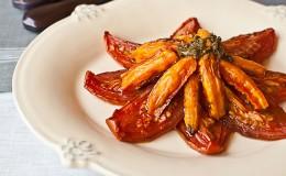 Ensalada tomates zanahorias confitados