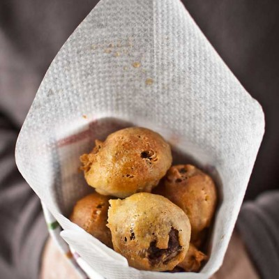 Morcilla beignets by Santi Santamaría and the giveaway winner