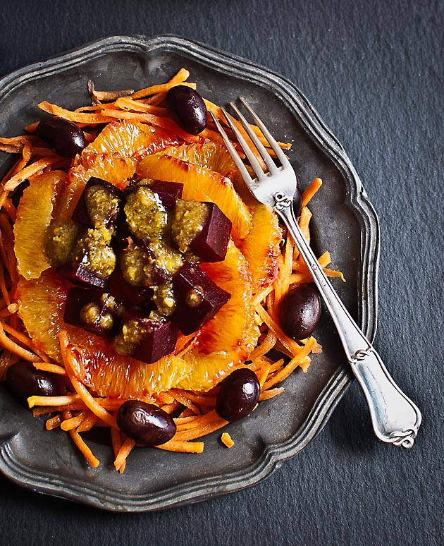 Ensalada naranja remolacha