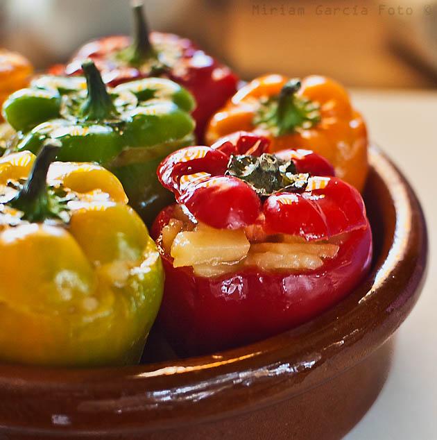 Potato tortilla stuffed peppers