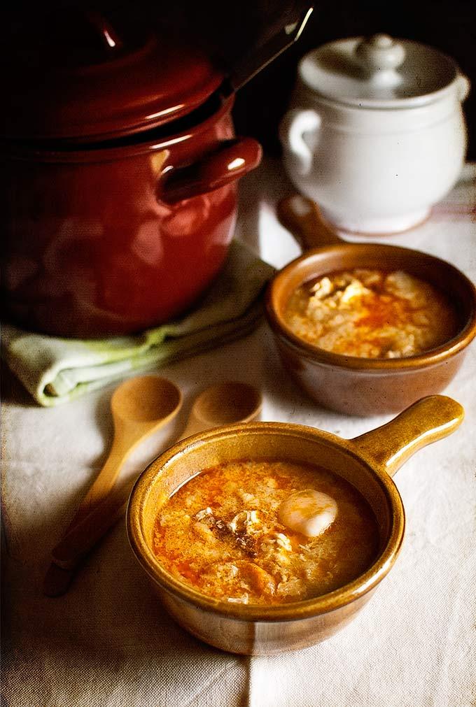 garlic soup shots