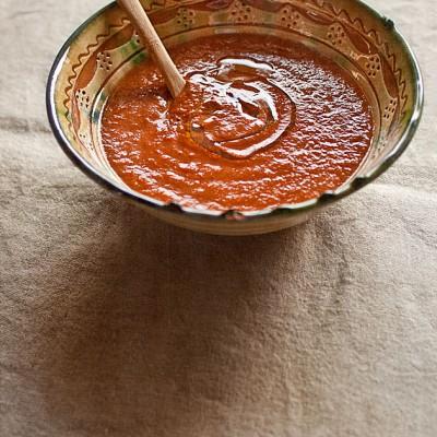 Crema picantuela de pimientos y tomates asados