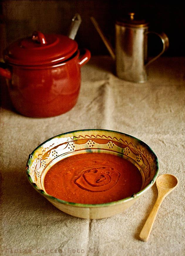Crema pimientos tomate