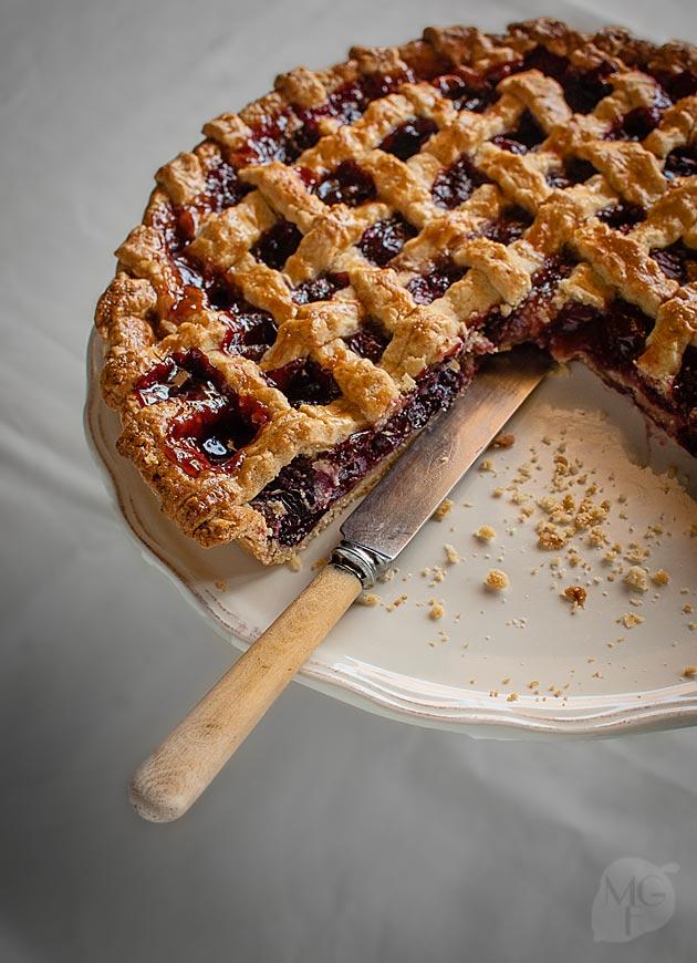 tarta de cerezas americana