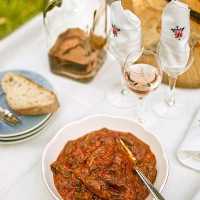 Sephardic bell pepper and tomato salad