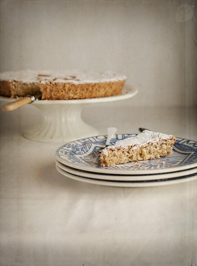 imagen de tarta de Santiago tradicional