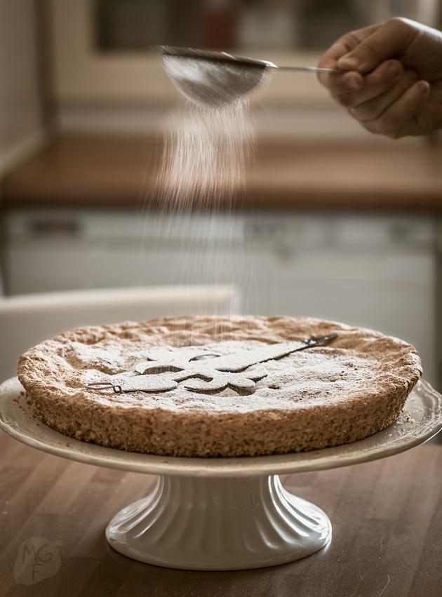 imagen de tarta de Santiago casera