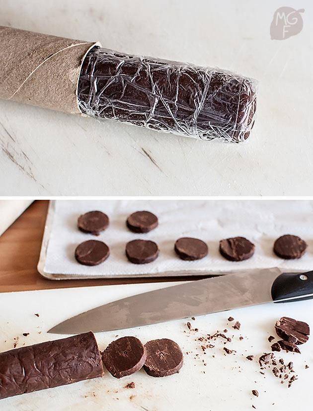 imagen de como hacer galletas de chocolate en rulo