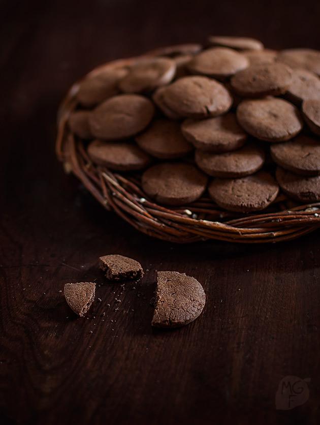 imagen de galletas de chocolate sencillas