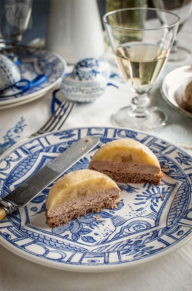Pastelitos de foie y pan de especias
