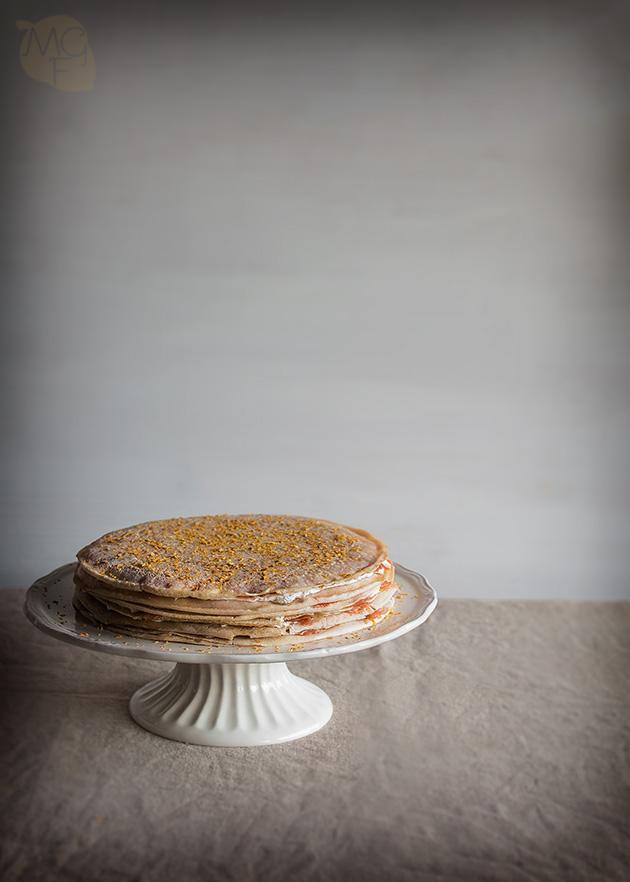 tarta salada de crepes