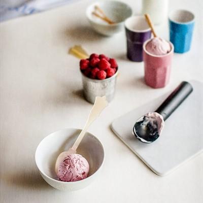 Cómo hacer helado de yogur cremoso. Helado de yogur y frutas rojas