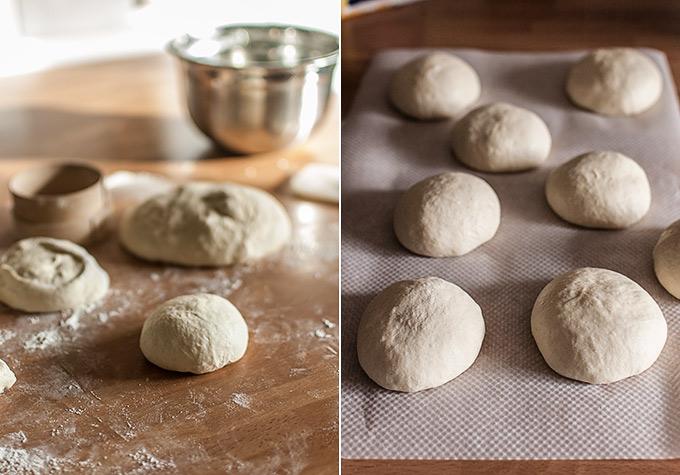 imagen de pan de pita paso a paso