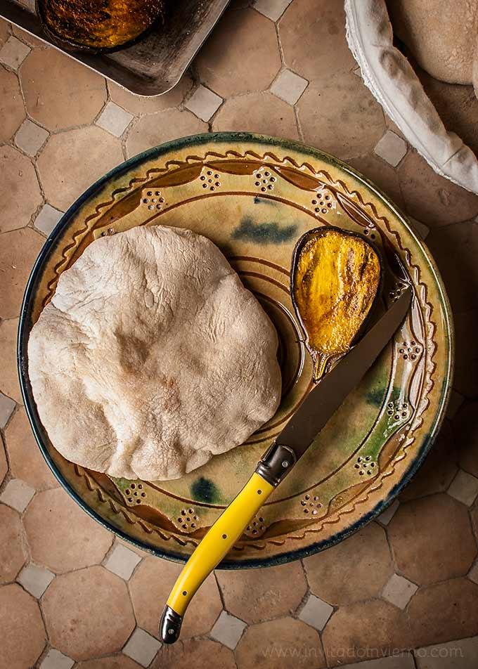 elaboracion de pan de pita casero