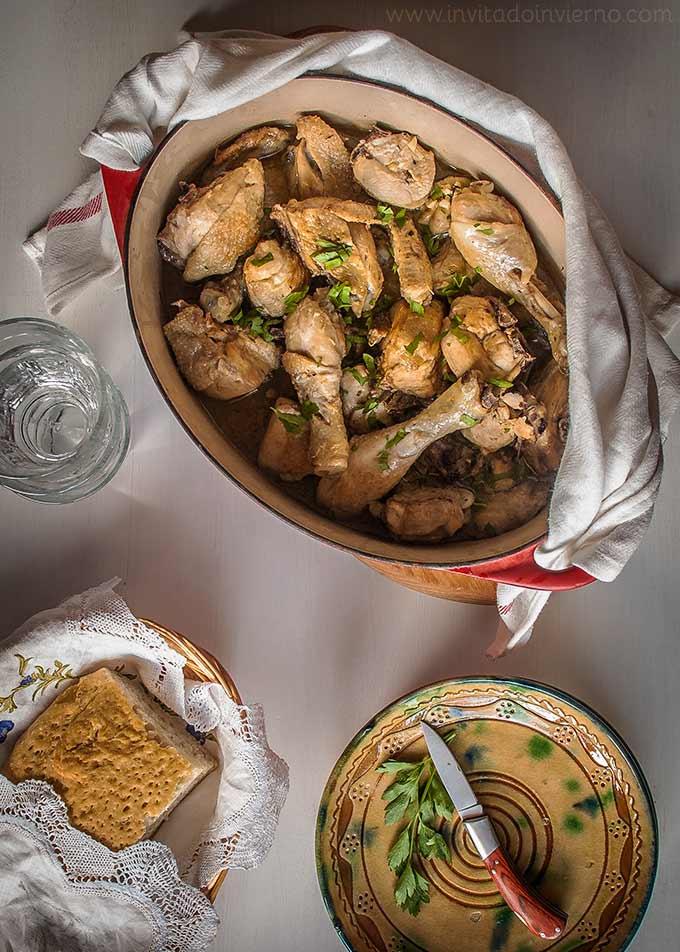imagen de pollo al ajillo
