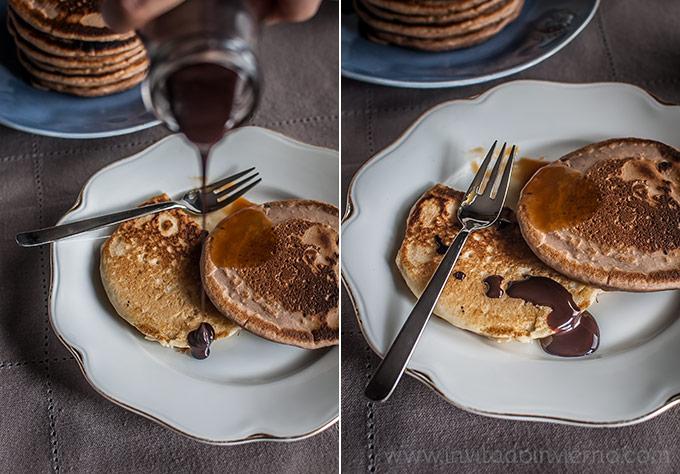 imagen de tortitas americanas con sirope