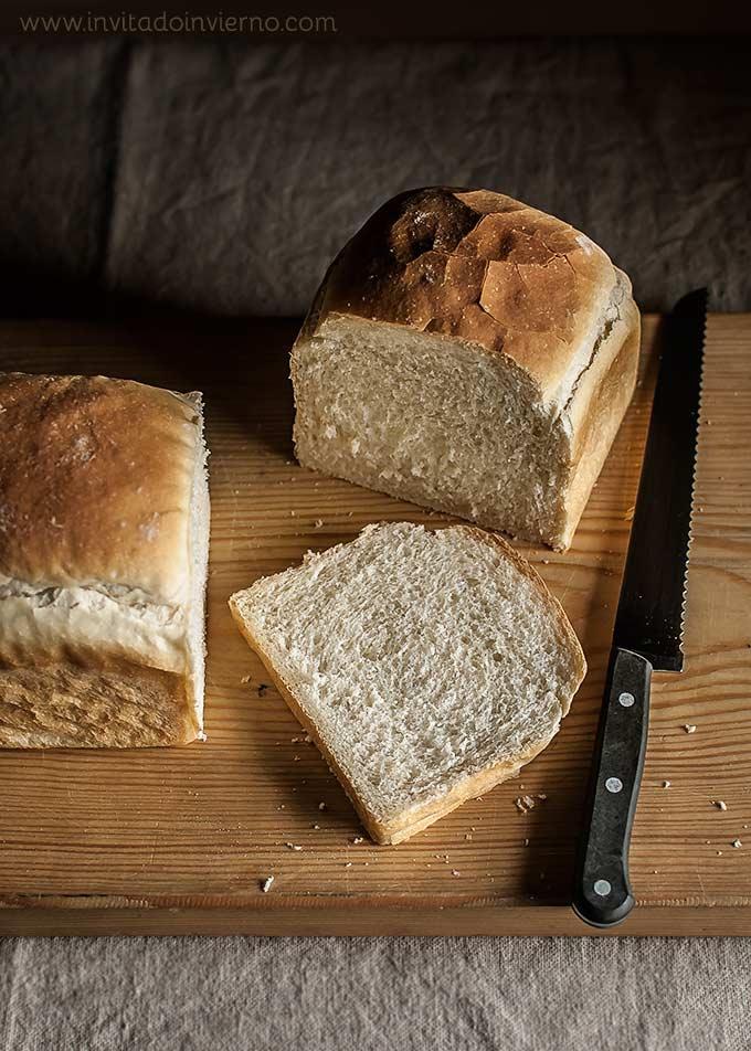 corte del pan de molde tierno paso a paso