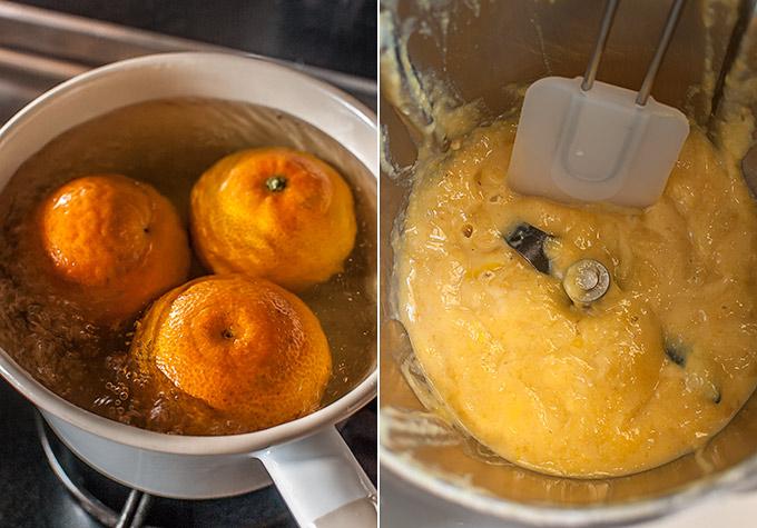 elaboración de bizcocho de mandarina
