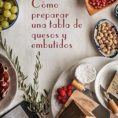 Preparar una tabla de embutidos y quesos