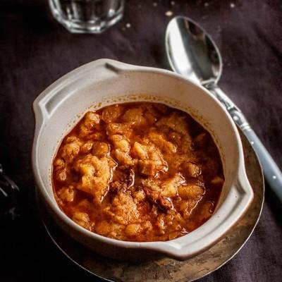 imagen de sopa de ajo