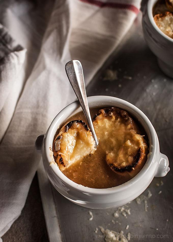 imagen de sopa de cebolla