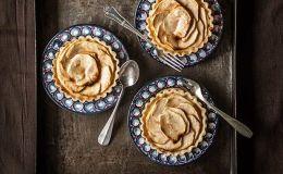 imagen de tarta de manzana casera