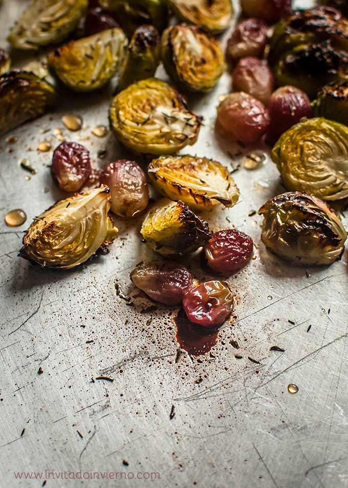 imagen de coles de bruselas al horno