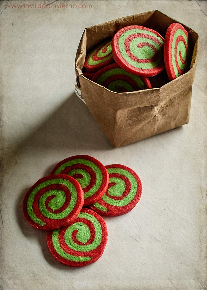 imagen de galletas de navidad en espiral