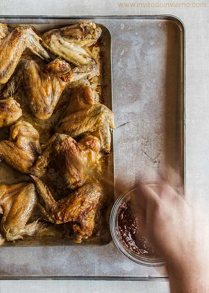 imagen de alitas de pollo al horno