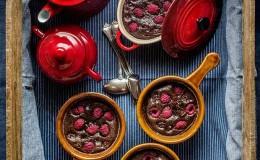 imagen de clafoutis de chocolate