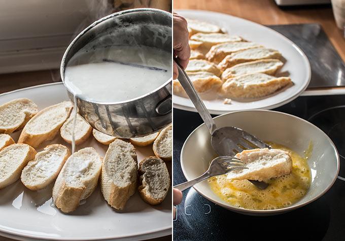 como hacer torrijas de leche paso a paso