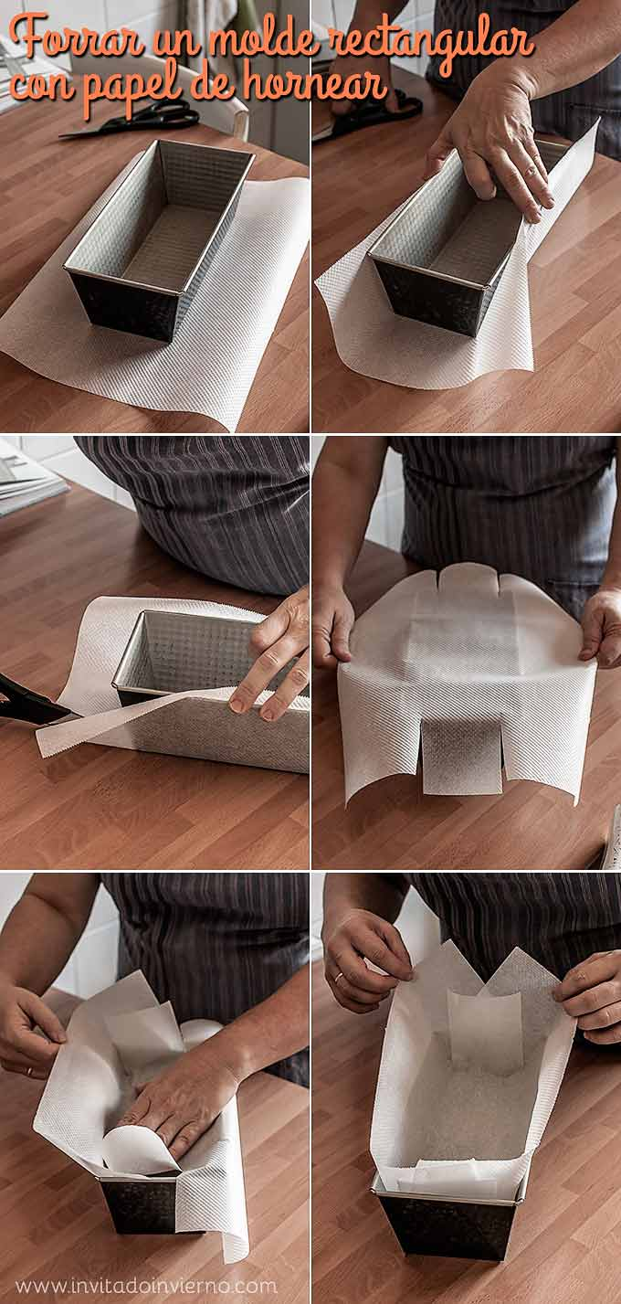 como forrar molde rectangular de cake