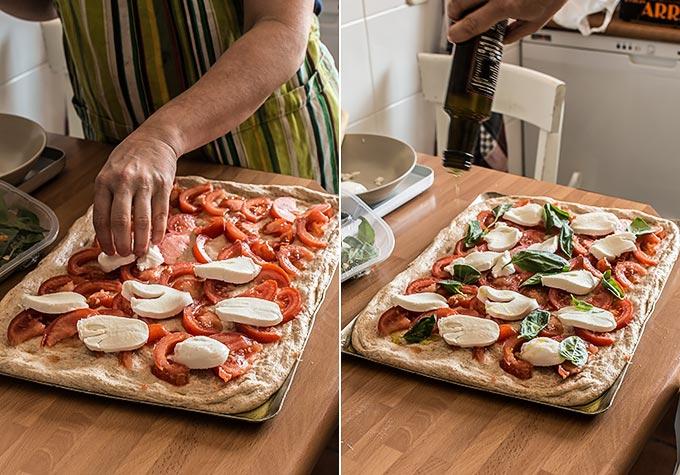 masa de pizza integral paso a paso