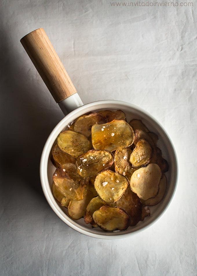 imagen de patatas chips al horno
