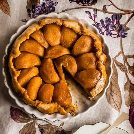 imagen de tarta tatin de manzana