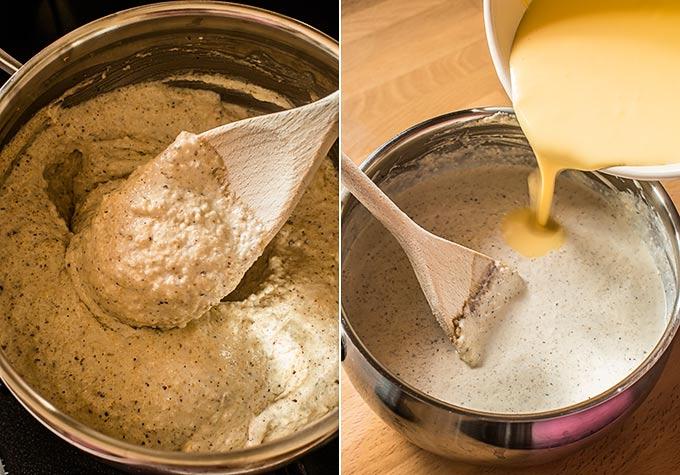 helado de avellana casero paso a paso