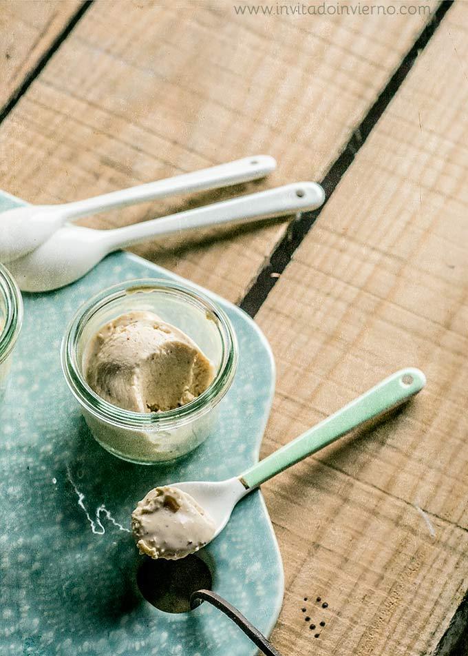 imagen de helado de avellana