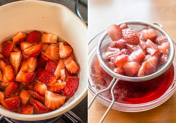 tarta de fresas con nata