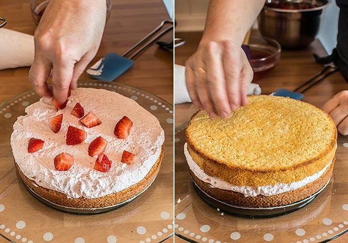 tarta de fresas con nata paso a paso