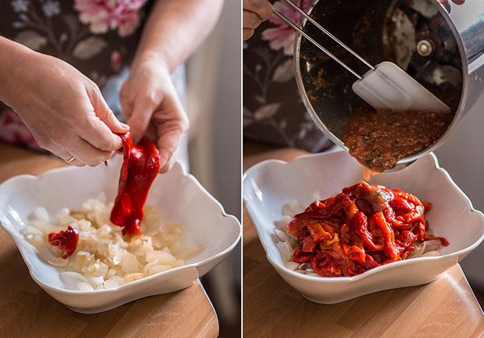 verduras al horno en ensalada paso a paso