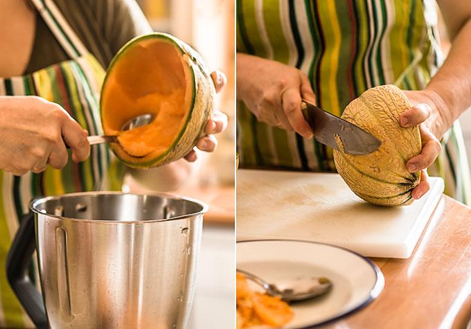 gazpacho de melon paso a paso