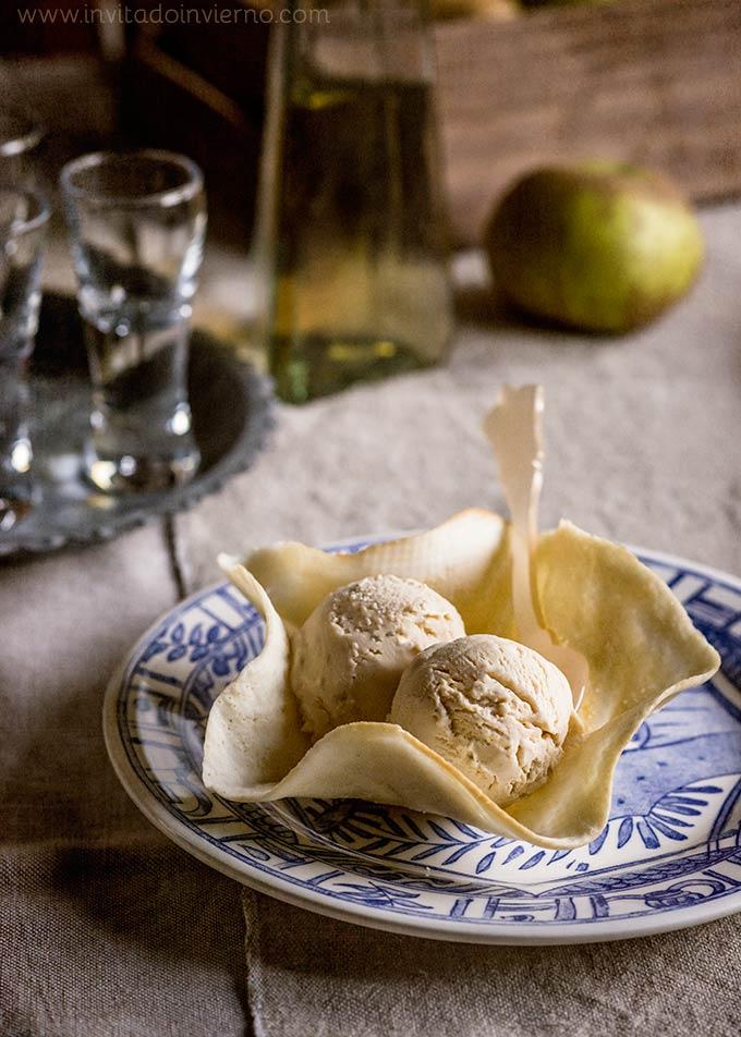 imagen de helado de manzana