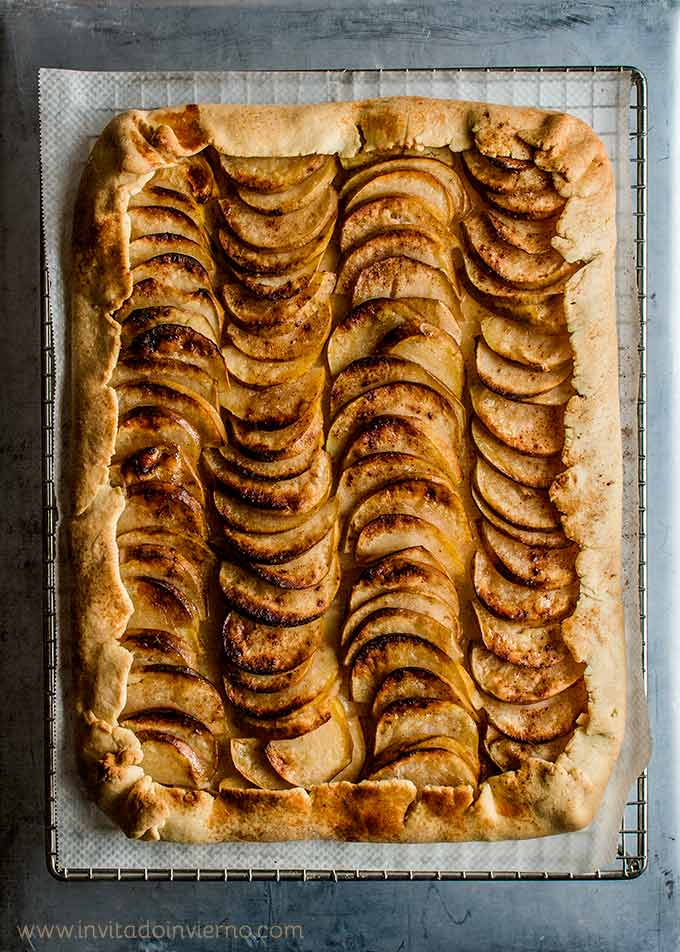 imagen de tarta fina de manzana