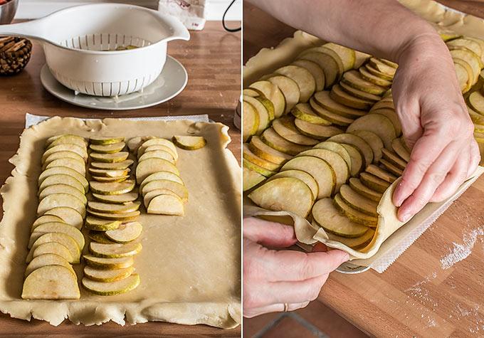 tarta fina de manzana paso a paso